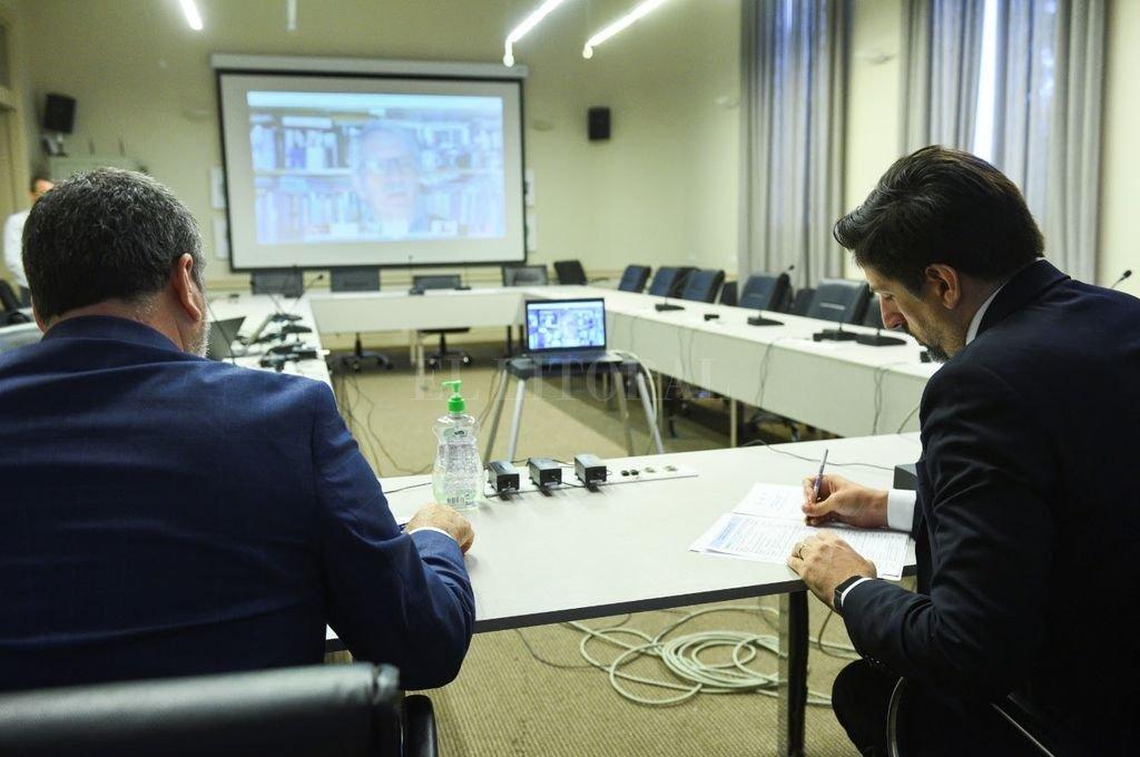 El encuentro fue realizado por medio de videoconferencias simultáneas. Crédito: Gentileza Ministerio de Educación de la Nación