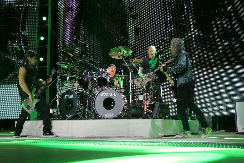 Robert Trujillo, Lars Ulrich, James Hetfield y Kirk Hammett, durante un show en Munich, el 23 de agosto de 2019. Foto: Gentileza Blackened Recordings Crédito: Gentileza Blackened Recordings