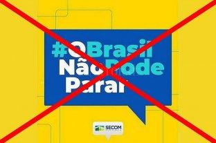 La justicia brasileña ordenó suspender la campaña de Bolsonaro contra el aislamiento