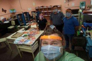 Las escuelas técnicas de Helvecia y Cayastá fabrican máscaras 3D -  -