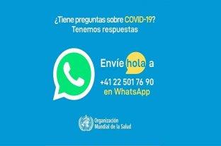 La OMS lanzó la versión en español de un servicio de información sobre coronavirus por WhatsApp