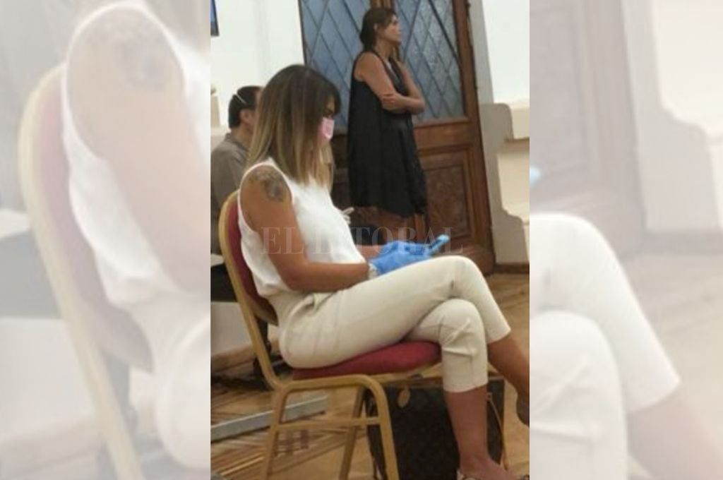 Amalia Granata durante la reunión en el Salón Blanco de Casa de Gobierno. Crédito: Twitter
