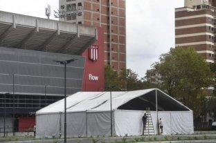 Instalan un hospital de campaña en el estadio de Estudiantes de La Plata