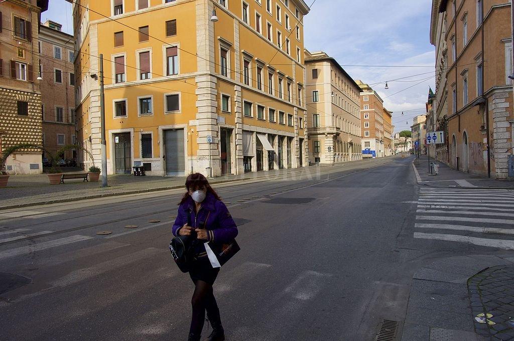 Roma, la Ciudad Eterna, casi vacía. Crédito: Telam