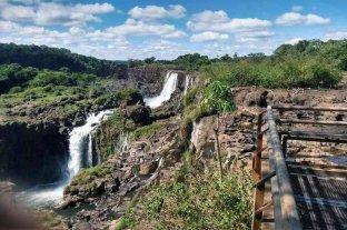 Las Cataratas del Iguazú atraviesan una de las peores sequías