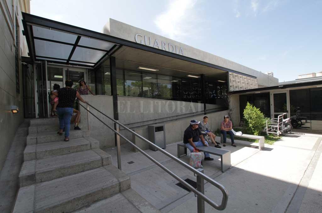 Por la gravedad de las heridas, la mujer se encontraba internada en el hospital Cullen de la ciudad de Santa Fe Crédito: Mauricio Garín