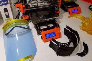 Alumnos salteños realizan máscaras faciales con impresoras 3D