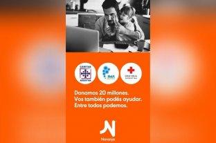 Naranja dona $ 20 millones para fomentar la lucha contra el coronavirus en la Argentina