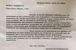 Buenos Aires: vecinos intimaron a una médica para que no circule por su edificio