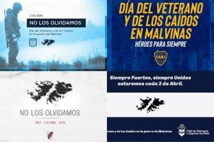 Clubes y referentes del deporte argentino recordaron a los veteranos y a los caídos en Malvinas