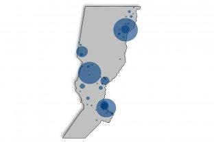 Mapa: la distribución de los casos de dengue en Santa Fe -  -