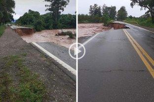 El temporal en Jujuy derrumbó el tramo de una ruta y hay 200 evacuados
