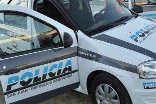 San Juan: fue sorprendido robando y destrozó su cara contra un patrullero