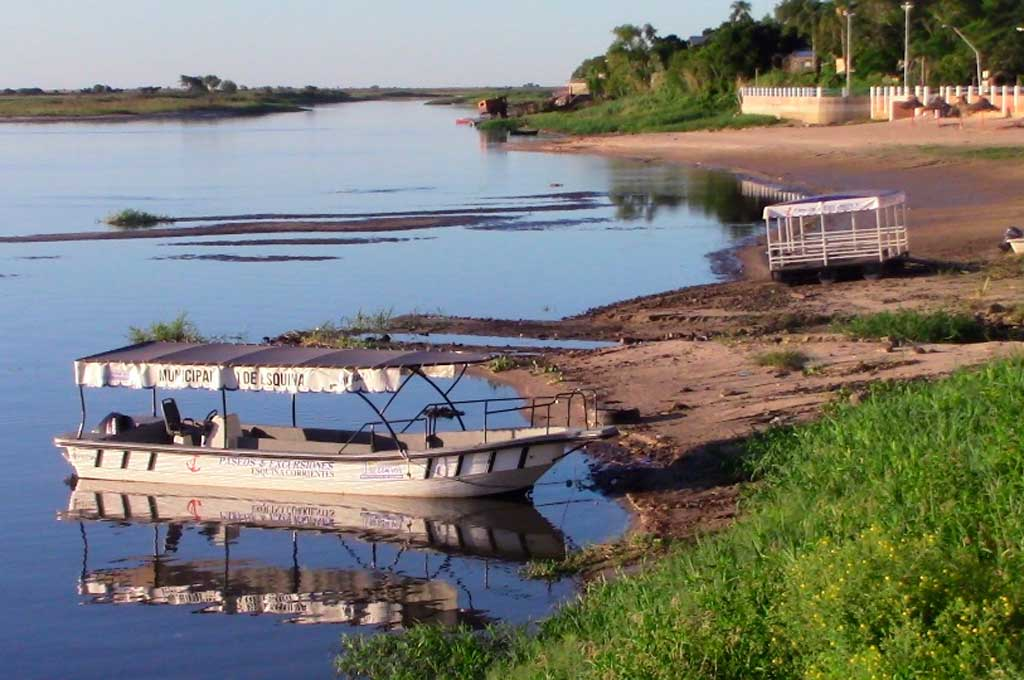 Así luce la costa en Esquina, provincia de Corrientes Crédito: Gentileza Actualidad Esquina