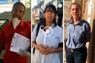 La mirada de los trabajadores esenciales que mantienen sus servicios en la ciudad