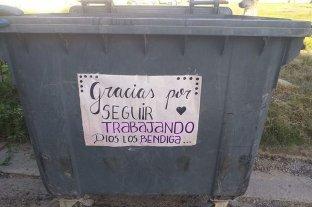 Vecinos reconocieron a los recolectores de residuos por su labor durante la cuarentena