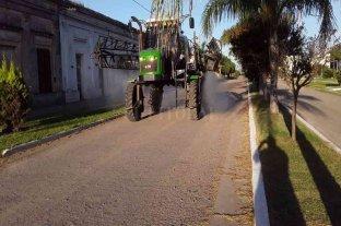 Covid-19: Intensifican la desinfección de calles en San Agustín