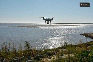 Desde el drone de El Litoral: así está la Laguna Setúbal, con el río a 1,23 mts -