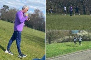 Mourinho aceptó su error de romper la cuarentena para entrenar en un parque
