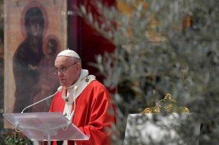 Francisco continúa las celebraciones de una Semana Santa atípica por el coronavirus