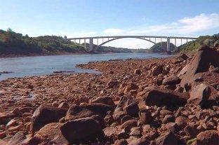 Bajante histórica del río Paraná: así es el panorama en el sur de Brasil -  -