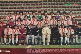...Y una vez, Unión fue a Africa  y se dio el gusto de dar la vuelta  - El plantel de Unión en 1981. La mayoría de esos jugadores, salvo Luque y Alí, que fueron transferidos al término del Metropolitano, fueron los que viajaron a Melilla, Palencia y Madrid, en una gira histórica.