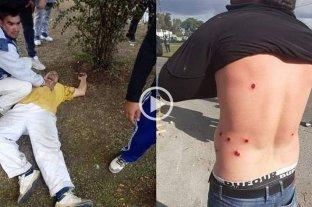 Incidentes entre policías y trabajadores despedidos de un frigorífico en Quilmes -  -
