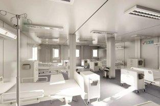"""Katopodis: """"Estamos trabajando para terminar 12 hospitales modulares en 15 días"""" -  -"""