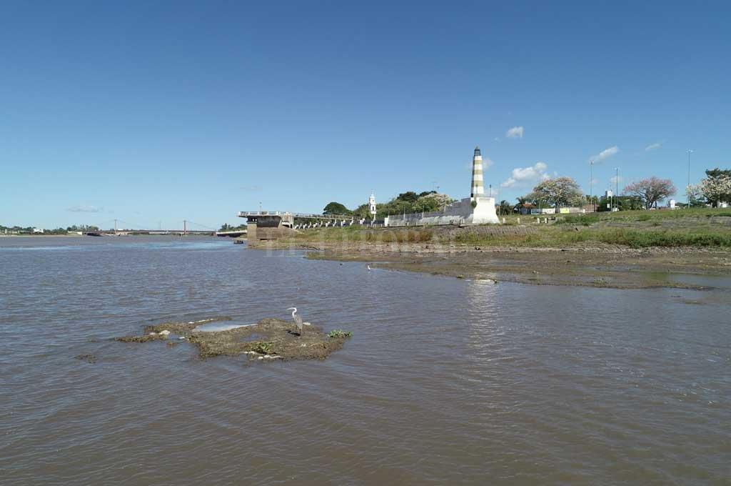 Hacía 50 años que la Laguna Setúbal no se mostraba con tan poco nivel de agua. Crédito: Fernando Nicola (Drone)