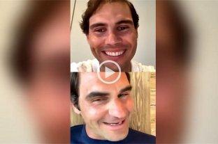 La imperdible charla en vivo entre Federer y Nadal que empezó con problemas de conexión