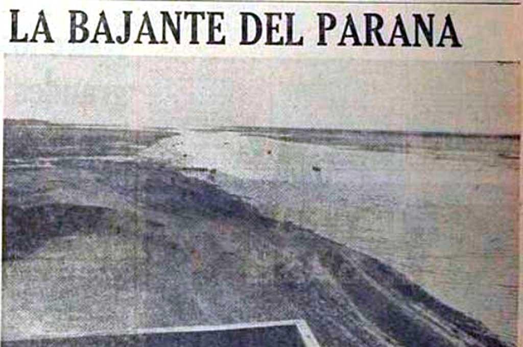 Artículo de Diario El Litoral en 1969 sobre la bajante y cómo afectaba a la Laguna Setúbal Crédito: Archivo El Litoral