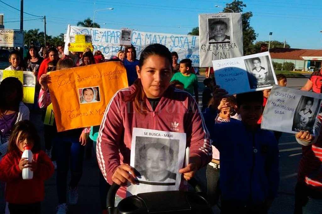Daniela, la mamá de Maxi, no pierde las esperanzas de encontrar a su hijo. Crédito: Archivo El Litoral