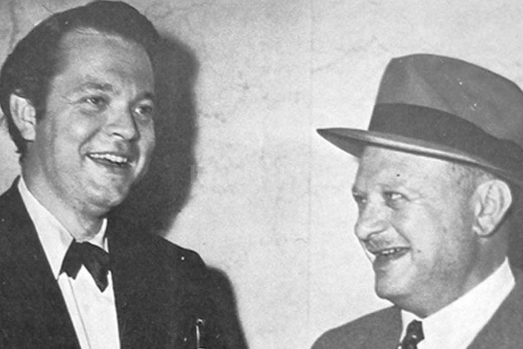 """Orson Welles junto a Herman Mankiewicz durante el rodaje de """"Ciudadano Kane"""". La controversia surgiría entre ambos por los créditos del guión, que finalmente fueron compartidos.  Crédito: Archivo"""