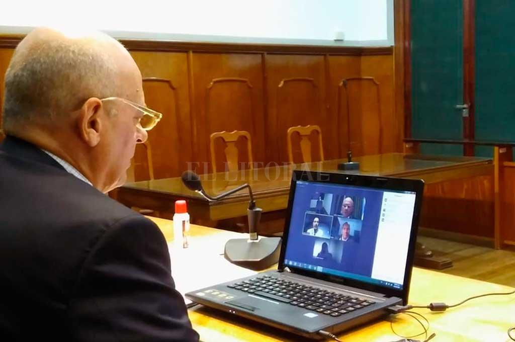 El juez Sebastián Creus confirmó la preventiva para uno de los implicados en el crimen de Julio Martínez. Crédito: Prensa Poder Judicial