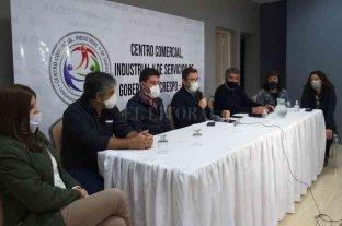 En Gobernador Crespo Borla pidió que se habiliten sectores comerciales y de servicio