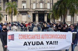 Protesta de comerciantes frente a Casa Gris: solicitan volver a la actividad