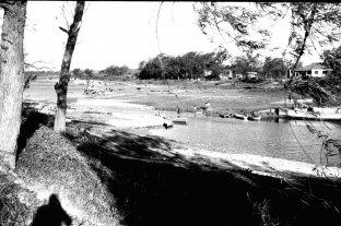 Por la bajante del Paraná en 1968, ¿se podía cruzar a pie el Riacho Santa Fe?