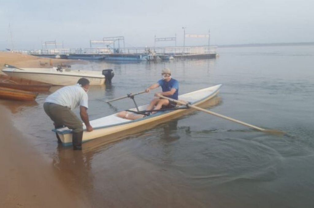 El remo es otra de las disciplinas que se pueden volver a disfrutarse en territorio correntino, respetando estrictas medidas de prevención. Crédito: Archivo
