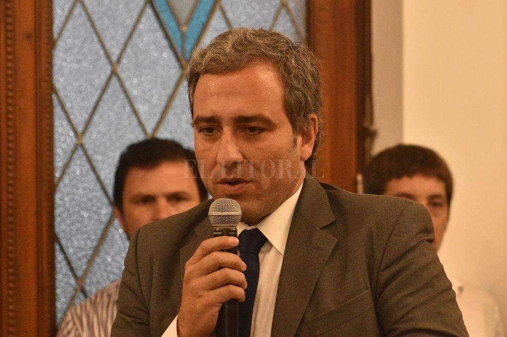 El diputado Oscar Martínez Crédito: Archivo El Litoral