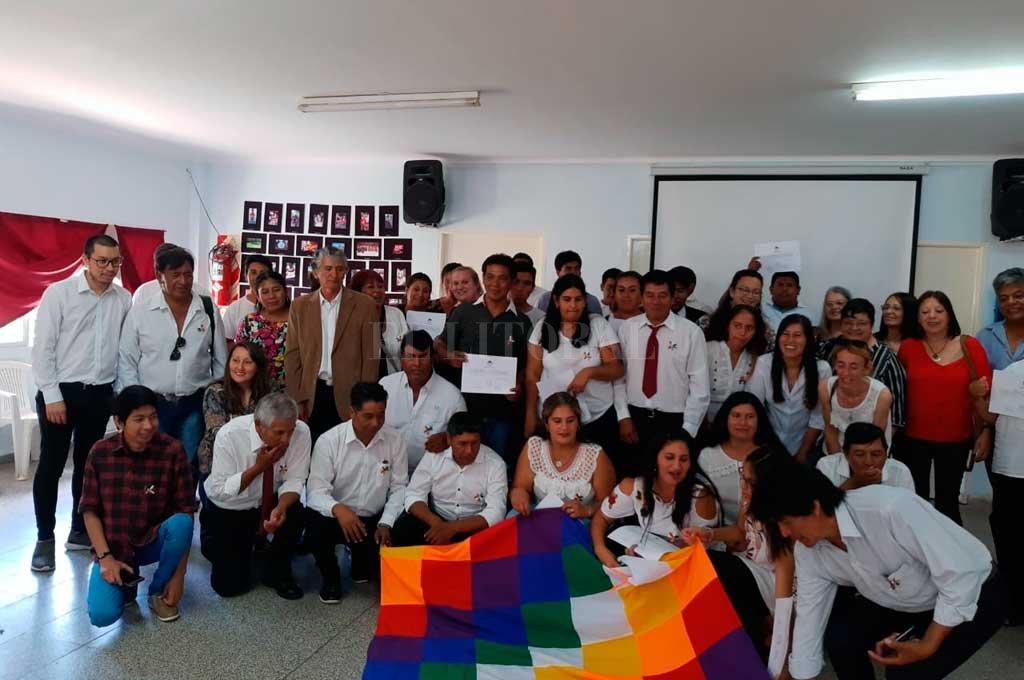 Uno de los encuentros de docentes mocovíes realizado en la ciudad de San Javier. Crédito: Gentileza Miguel Vásquez