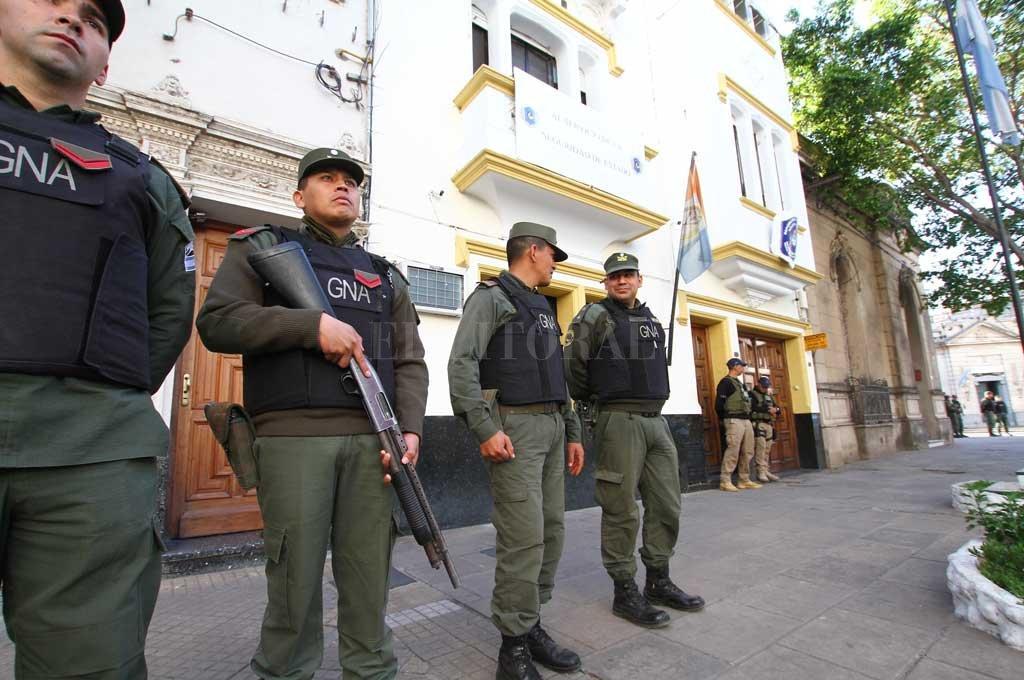 El 20 de septiembre de 2019 se realizó un allanamiento en la sede de la Policía Federal de la ciudad de Santa Fe Crédito: Archivo El Litoral / Pablo Aguirre
