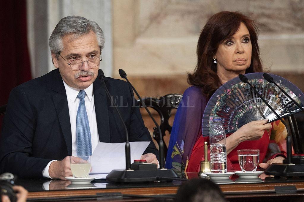 Alberto Fernández y Cristina Fernández de Kirchner, presidente y vice de la Nación. Crédito: Archivo El Litoral