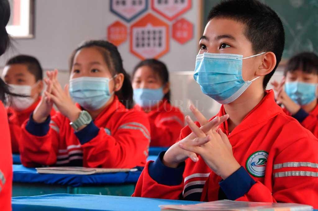 Estudiantes de las escuelas de Hohhot, China Crédito: Agencia Xinhua