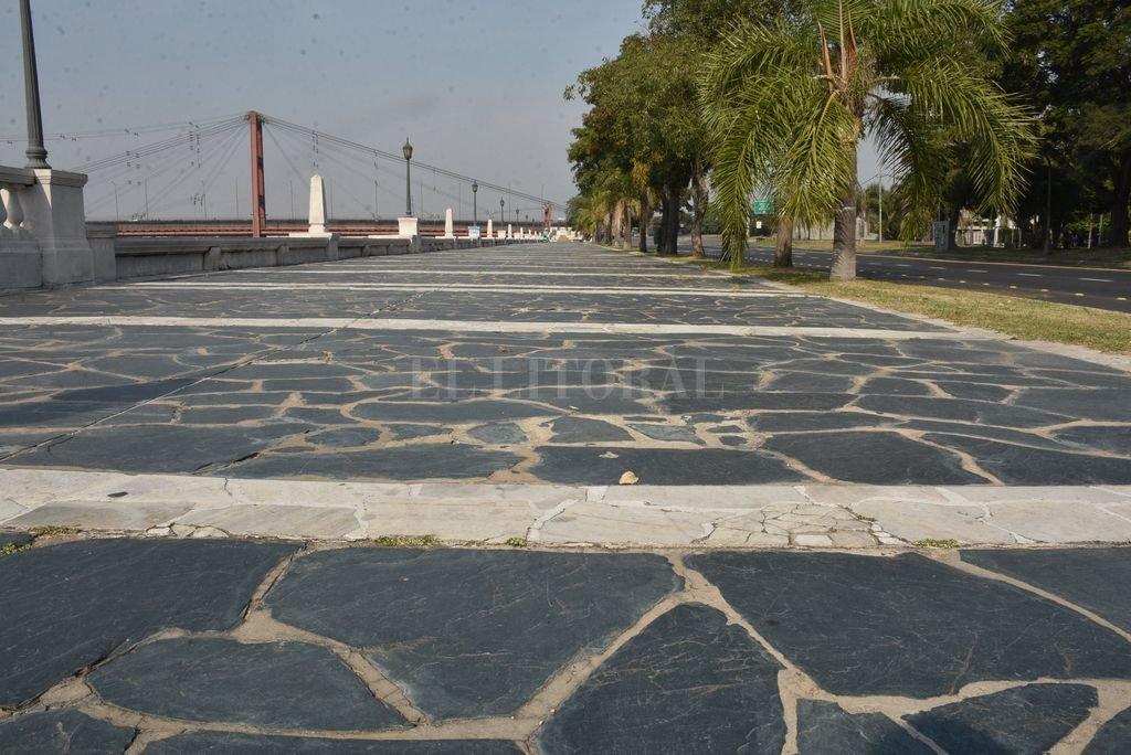 La costanera, vacía por la cuarentena Crédito: Guillermo Di Salvatore