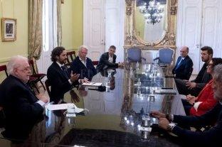 Marcelo Tinelli y Adrián Suar se reunieron con autoridades en la Casa Rosada