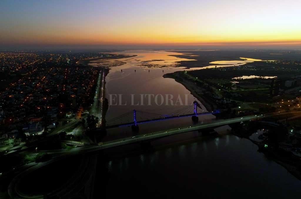 Seca. La laguna Setúbal y una postal pocas veces vista, con la bajante. Crédito: Fernando Nicola (Drone)