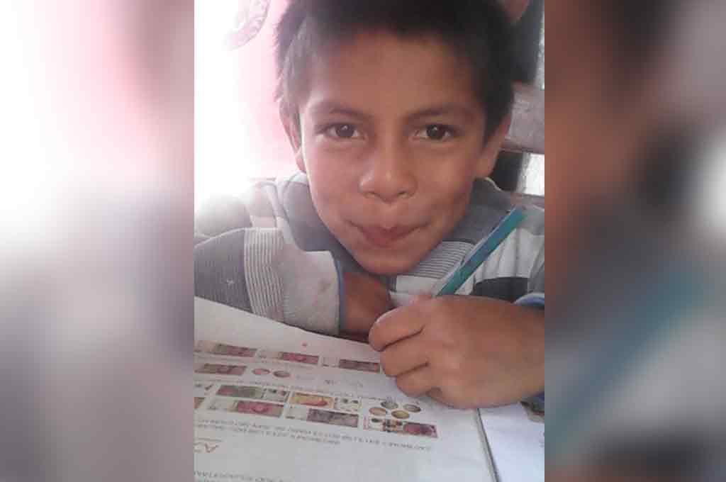 EL AULA EN CASA. Darian es alumno de 3er. grado de la escuela Salvador Caputto, de la zona rural de El Sombrerito. Al igual que sus compañeros, en estos tiempos de pandemia está afianzando la lectura y escritura de textos desde su casa. Crédito: Gentileza.