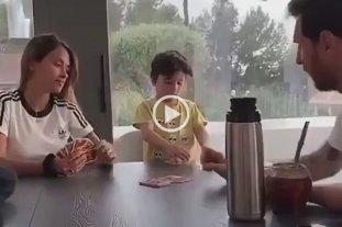 Video: La familia Messi jugó al UNO y Lio hizo perder a Mateo
