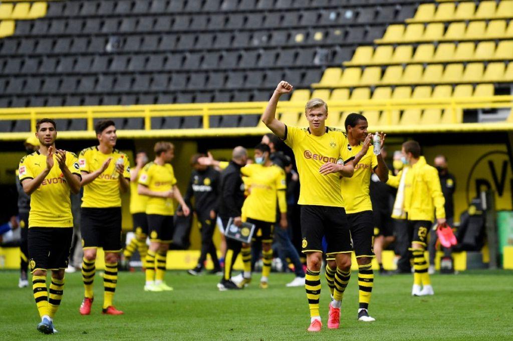 El fútbol regresó sin público en la liga alemana. Crédito: Gentileza