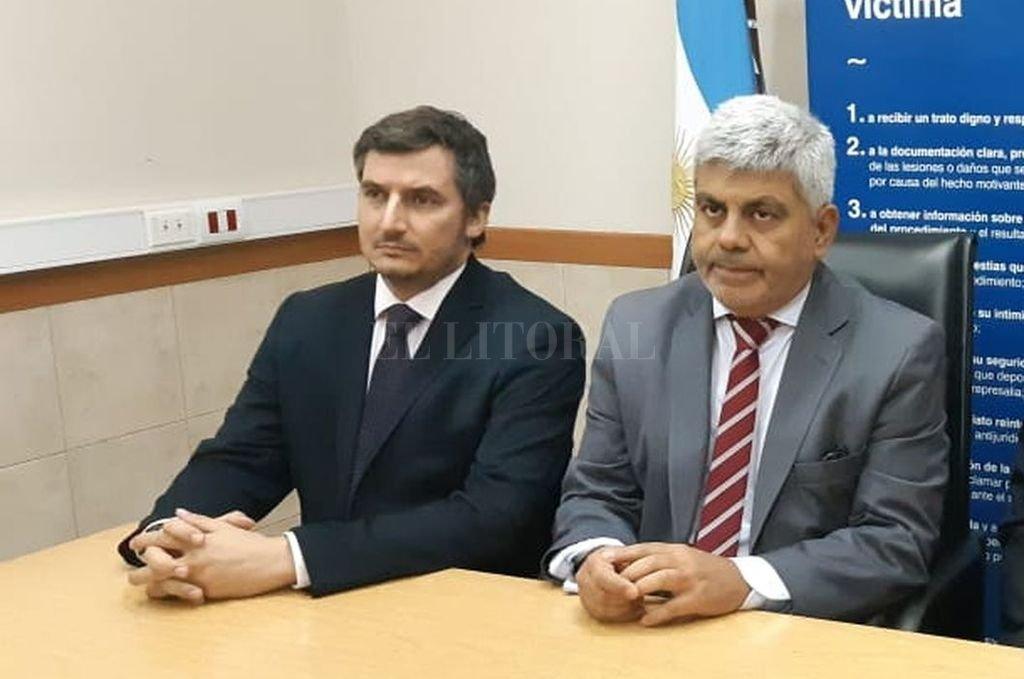 Vigo, fiscal regional de Rafaela, fue acompañado por el fiscal general, Jorge Baclini, a la reunión con la Comisión de Acuerdos. Crédito: El Litoral